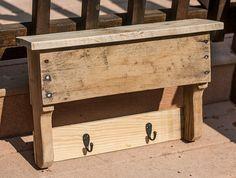 Entryway Coat Hooks Pallet Shelf Reclaimed by byDadandDaughter
