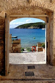 This photo from Foggia, Apulia is titled 'The door to the sea'. Oh The Places You'll Go, Places To Travel, Places To Visit, Italy Vacation, Italy Travel, Beautiful World, Beautiful Places, Beau Site, Visit Italy
