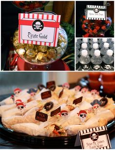 food ideas...Pirate Birthday Party