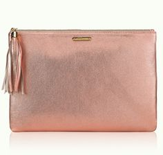 gorgeous rose gold clutch