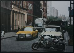 'Downtown Traffic' Acrylic on Canvas  84 x 120 cm by Neil Douglas Neil's paintings will be on the CCA Stand at the Manchester Buy Art Fair Come See Comme Ca on Stand 25 http://www.buyartfair.co.uk
