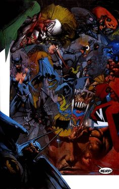 Batman Judge Dredd Pinup - Simon Bisley Gallery.com