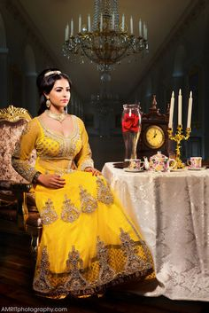 Belle | 9 Stunning Photographs That Reimagine Disney Princesses As Indian Brides