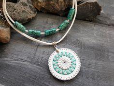 Bohemian choker. Leather necklace. Boho necklace. by VelmaJewelry