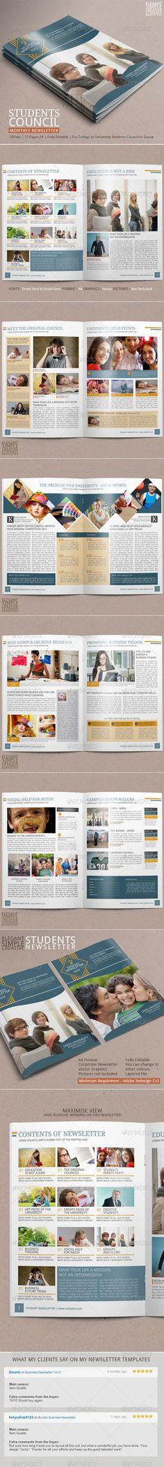 Bizart Corporate Newsletter Template Newsletter templates, Print - newsletter format