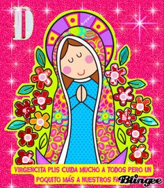 virgen guadalupe Religious Paintings, Religious Art, Mexican Pattern, Mama Mary, Pencil Art Drawings, Cat Colors, Mother Mary, Cute Images, Rock Art