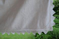 Linen Cotton Sheet Antique Rustic Material Homespun Organic Hand Woven Centre Seam Upholstery Fabric Crocheted Lace Romantic Home Cotton Sheets, Linen Sheets, Cotton Linen, Romantic Home Decor, Romantic Homes, Lace Valances, Linen Upholstery Fabric, Crochet Lace, Nature Decor