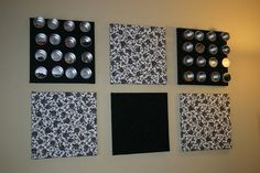 my craft room, craft rooms, home decor, Magnetic and cork boards were covered in the same material as the valance to match