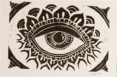 Linoleum Printmaking | Spy Linoleum Print - Media - Cloth Paper Scissors