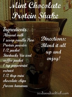 Mint Chocolate Protein Shake!
