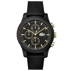 Relógio Lacoste Masculino Borracha Preto - 2010826