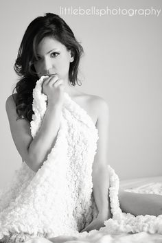 Natural light boudoir photography, Black & White  Little Bells Photography-Bloomington, IL