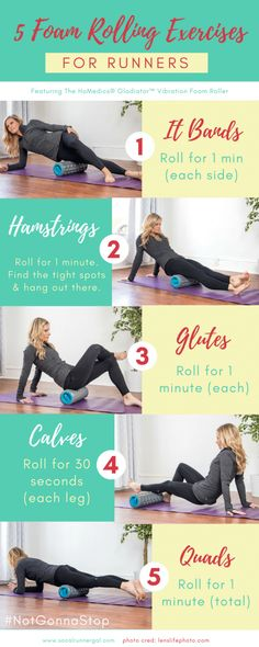 5 Foam Rolling Exercises for Runners with HoMedics®️️️️ Sports Recovery. 5 Foam Rolling Exercises for Runners with HoMedics®️️️️ Sports Recovery Massagers - Nutrition Education, Sport Nutrition, Fitness Nutrition, Fitness Tips, Fitness Motivation, Runners Motivation, Nutrition Poster, Nutrition Tracker, Nutrition Quotes