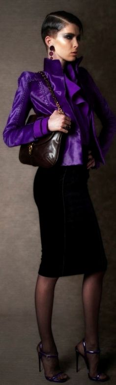 Tom Ford ~ just love the colour purple and the styling is so sophisticated!