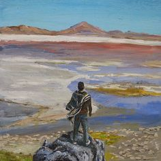 Весна.  Fast spring painting.    #nature #ice #red #man #colors #stone #beach #paintings #painting #art🎨 #departure #spring #nepraville