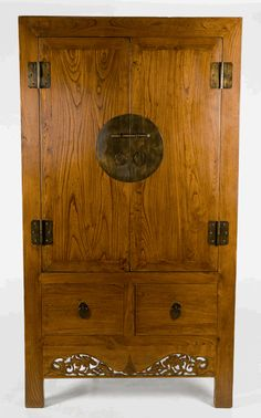 Antique Asian Furniture: Armoire Cabinet from Shanghai, China