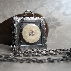 button pendant necklace