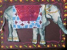 Indian elephants, 2nd_grade love the scrap paper blankets