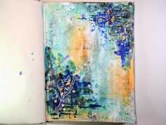 Shimmerz Paints: Mixed Media Art Journal Page
