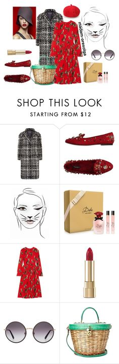"""""""I am smart kitty 4"""" by lailamur on Polyvore featuring мода и Dolce&Gabbana"""