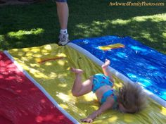 I still laugh out loud EVERY TIME! Slip n' Slide face-plant!