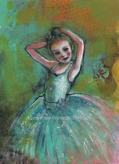 The Backstage Ballerina, painting by artist Maria Pace-Wynters