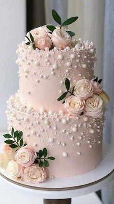 Small Wedding Cakes, Wedding Cakes With Cupcakes, Elegant Wedding Cakes, Elegant Cakes, Beautiful Wedding Cakes, Wedding Cake Designs, Beautiful Cakes, Vintage Wedding Cakes, Wedding Cake Flowers