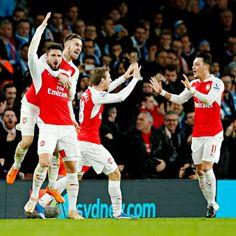 Ramsey, Giroud, Monreal, Özil.