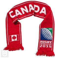 Canada - Rugby WC 2015 Scarf Ideal Gift for all Rugby Fans Scarf Dimensions x approx Brand New with Tags - Header Card Official Licensed Rugby World Cup, Irb Rugby, Black Friday, Uggs, Canada, Brand New, Header, Flag, Clothes