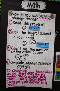 Count on addition strategy