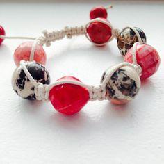 ♥ Bespkoke-Coral & Agate Shamballa Bracelet - ♥ Steal Her Style ♥ Celebrity ♥ Fashion ♥ Jewellery