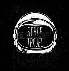 astronauta ilustracion: abstracto astronauta casco al emblema viaje espacial aislada