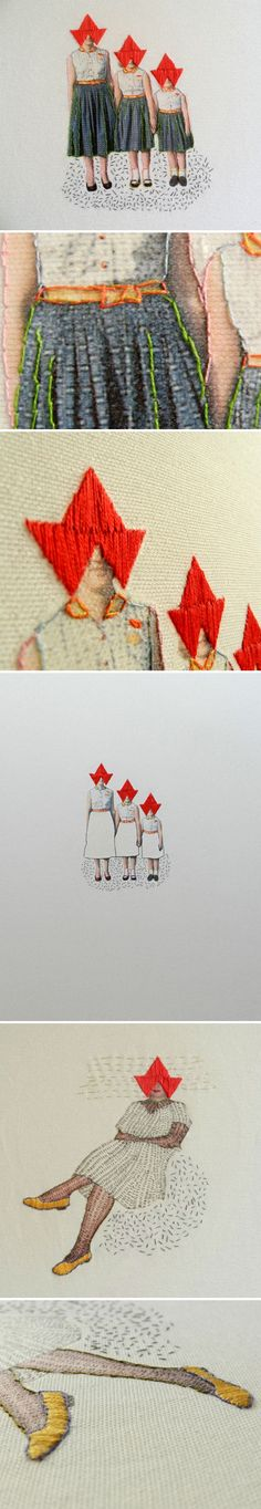 hagar van heummen interpreted through embroidery stitch Embroidery Designs, Embroidery Art, Embroidery Stitches, Diy Broderie, Kunst Online, Art Moderne, Fabric Art, Love Art, Textile Art