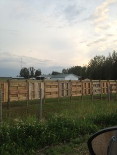 Fence made from wood pallets