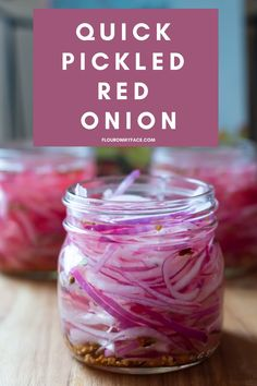 Quick Pickled Red Onion is a refrigerator pickle recipe so easy to make you DO NOT NEED any Canning Skills. Refrigerator Pickle Recipes, Quick Pickled Red Onions, Homemade Sandwich Bread, Red Onion Recipes, Conservation, Canned Food Storage, Fermented Foods, Special Recipes, Canning Recipes