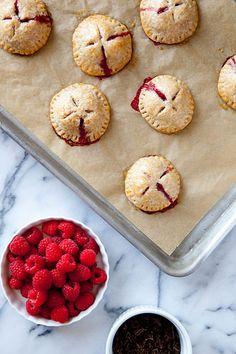 raspberry dark chocolate hand pies