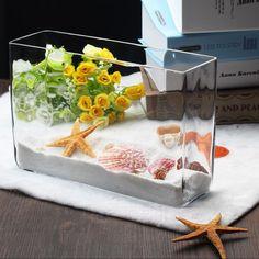 厚玻璃花瓶yugang水培植物美式乡村金台面金鱼缸长方形鱼缸热销-淘宝网全球站