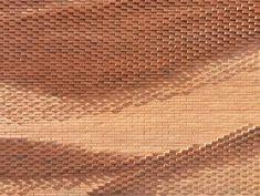 German architecture firm Behet Bondzio Lin Architekten recently constructed a new headquarters for the Association of the Northwest German Textile and Garment Industry in Münster, Germany. Parametrisches Design, Facade Design, Line Design, Archi Design, Interior Design, German Architecture, Facade Architecture, Brick Texture, Brick Facade