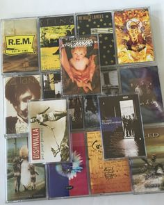 90's Alternative Music Cassette Tapes Counting Crows Creed Del Amitri REM Sting #RockAlternativeIndie