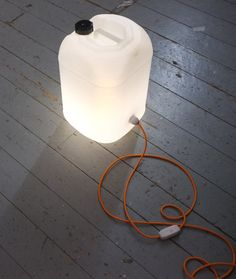 Original Handmade Jerrycan Lamp with Fabric Cable by TincupLights
