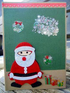 Santa Christmas, Christmas Cards, Etsy Store, Advent Calendar, Felt, Holiday Decor, Awesome, Unique Jewelry, Handmade Gifts