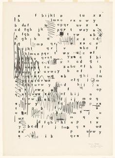 Jasper Johns Alphabets 1962 Lithograph Dimensions: 34 x x 61 cm) sheet 41 x 29 x cm) Jasper Johns, Pop Art, Andy Warhol, Art Mots, Neo Dada, 3d Foto, Poesia Visual, Robert Rauschenberg, Letter Art