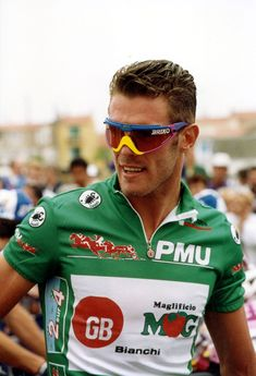 Mario Cipollini (b 1967) Italian professional road cyclist; noted sprinter; his first pro win was in 1989, his last in 2005; 191 stage victories