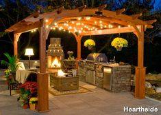 garden wooden gazebo with lights - Google Search