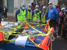 ToolBank staff and volunteers participating in the Bed Race for the Furniture Bank of Metro-Atlanta