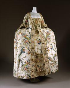 Robe à la Française Date: 1740s Culture: British Medium: silk, pigment, linen