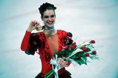 Katarina Witt is the 1984 and 1988 Olympic Figure Skating Champion. She was known for being beautiful and athletic.