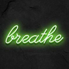・Breathe・ - 50x15 cm / 20x6 inch / green