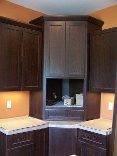 Corner Microwave Hutch Cabinet