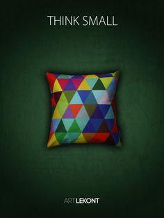 Die neuen 30x30 cm Kissen von ART LEKONT mit geometrischem Muster - THINK SMALL